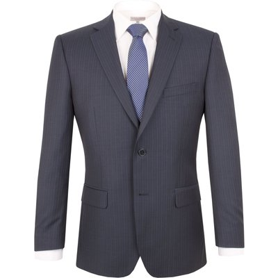 Men's Pierre Cardin Alternative Stripe Regular Suit Jacket, Blue