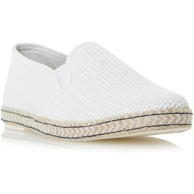 Dune Fencing Mesh Vamp Espadrille Shoes, Off White
