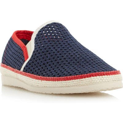 Dune Falmouth mesh detail espadrille shoes, Blue