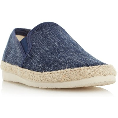 Dune Flipper canvas espadrille shoes, Blue