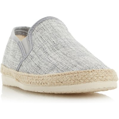 Dune Flipper canvas espadrille shoes, Grey