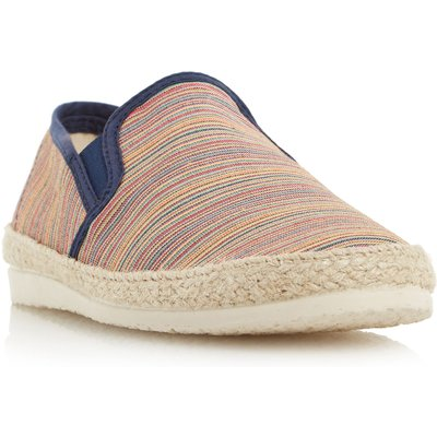 Dune Fraser island striped espadrille shoes, Multi-Coloured