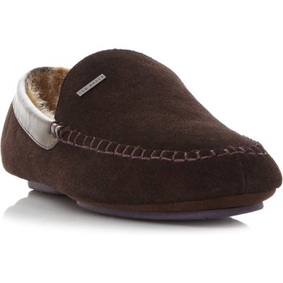 Ted Baker Moriss mocassin slippers, Dark Brown