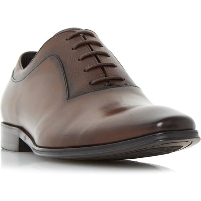 Dune Rancho embossed detail oxford shoes, Brown