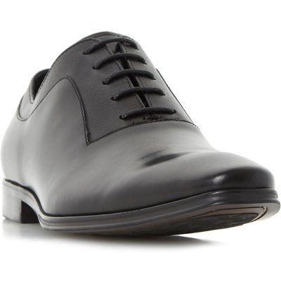 Dune Rancho embossed detail oxford shoes, Black