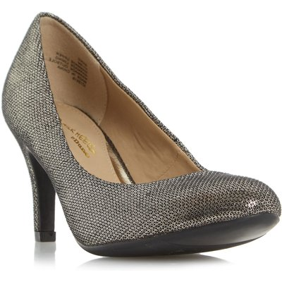 Head Over Heels Annie round toe court shoes, Pewter