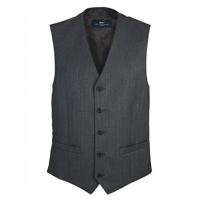Men's Paul Costelloe Edgeware Wool Pick & Pick Suit Waistcoat, Charcoal