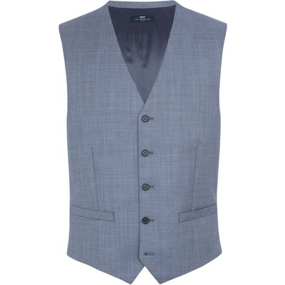 Men's Paul Costelloe Modern fit light blue waistcoat, Light Blue