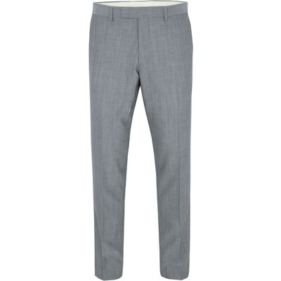 Men's Paul Costelloe Modern fit grey mohair suit trousers, Grey