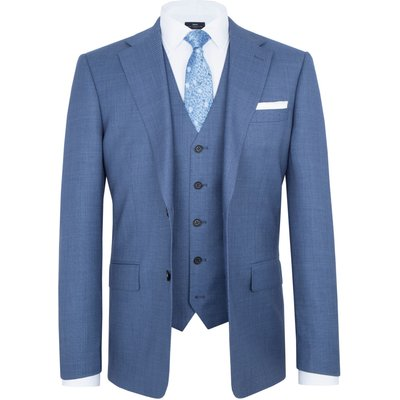 Men's Paul Costelloe Modern Fit Blue Birdseye Suit Jacket, Light Blue