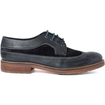 Racing Green Ministry Black Casual Brogue, Black