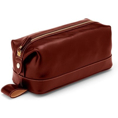 Aspinal of London Men`s Classic Cognac Washbag, Brown