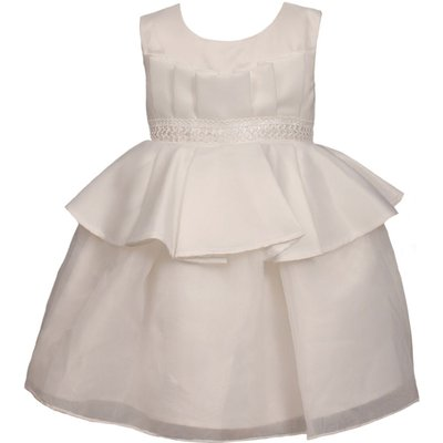 Heritage Girls sleeveless special occasion dress, White