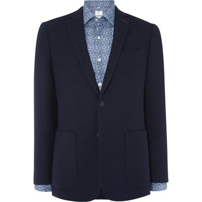 Men's Richard James Mayfair Navy Double Faced Check Jacket, Blue