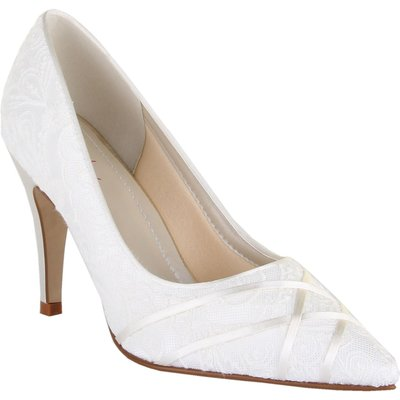 Rainbow Club Ashleigh lace court shoes, White