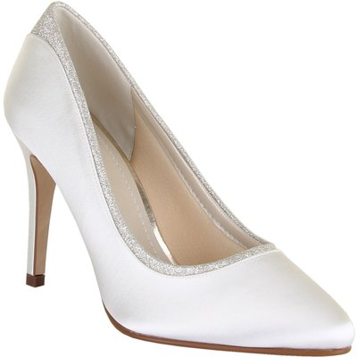 Rainbow Club Billie shimmer court shoes, White