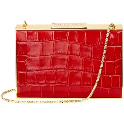 Aspinal of London Scarlett box clutch bag, Red