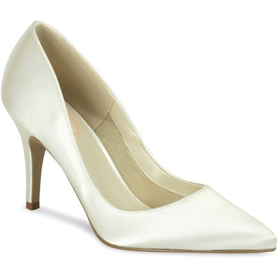 Paradox London Pink Flush Pointed Court Shoes, White