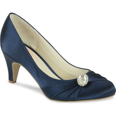 Paradox London Pink Harmony Round Toe Court Shoes, Blue
