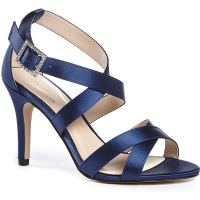 Paradox London Pink Macpherson strappy cross over sandals, Blue