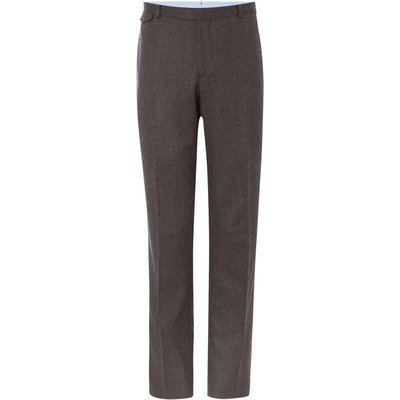 Men's Chester Barrie Grey Flannel Trousers, Grey