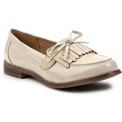 Lost Ink Heidi fringed flat shoes, Nude