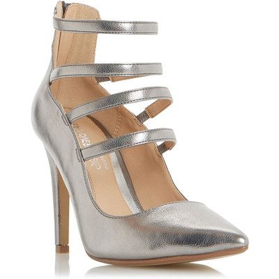 Head Over Heels Alora strappy courts, Pewter