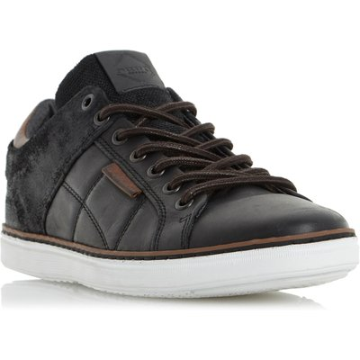Dune Tobey Quilted Panel Trainers, Black