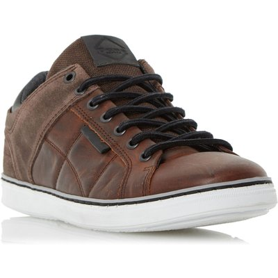 Dune Tobey Quilted Panel Trainers, Brown