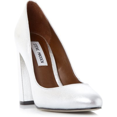 Steve Madden Spectur flared heel court shoes, Silver