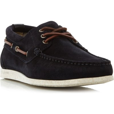 Hugo Boss Nydec moccasin suede boat shoes, Blue