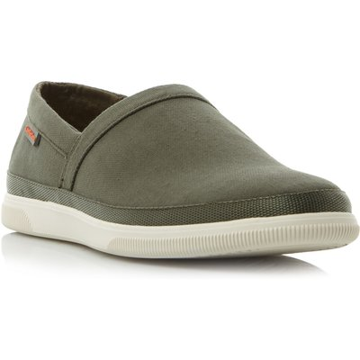 Calvin Klein Ulf canvas slip on trainers, Khaki