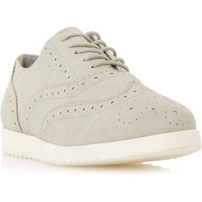 Head Over Heels Gizmo white outsole brogue shoes, Grey