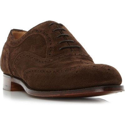 Cheaney Mens Arthur iii classic wingtip brogue shoes, Brown