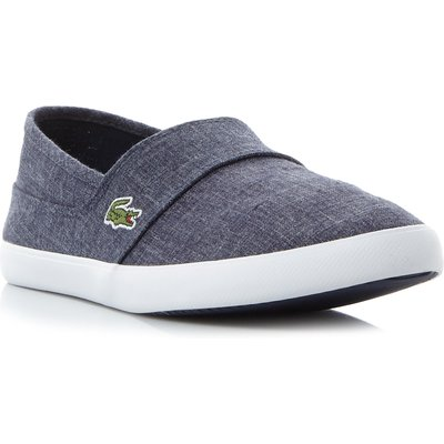 Lacoste Marice chambray slip on shoes, Blue