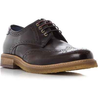 Ted Baker Prycce Wingtip Gibson Brogue Shoes, Red