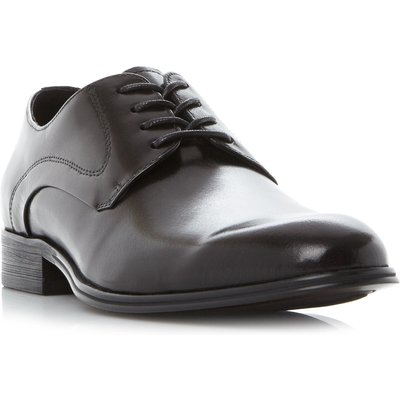 Kenneth Cole Design 10281 Plain Toe Derby Gibson Shoes, Black