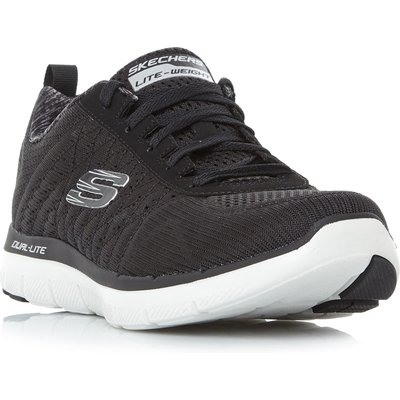 Skechers Flex Ad 2.0 Flat Knit Trainers, Black
