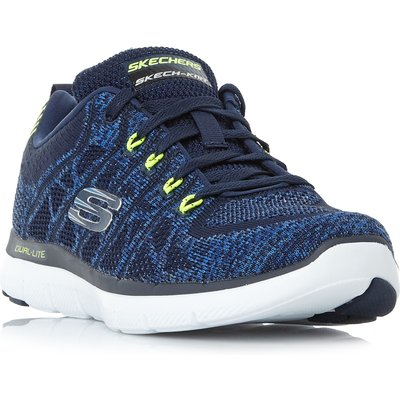 Skechers Flex Ad 2.0 Flat Knit Trainers, Blue