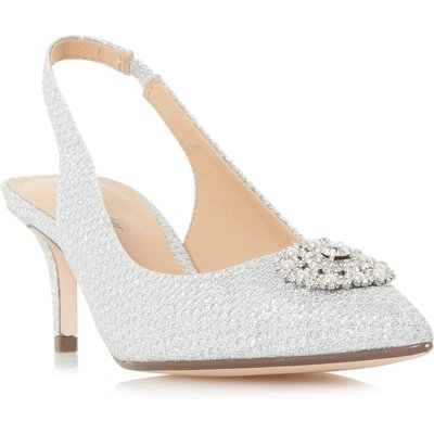 Roland Cartier Dolcie Diam And Pearl Open Court Shoes, Silver