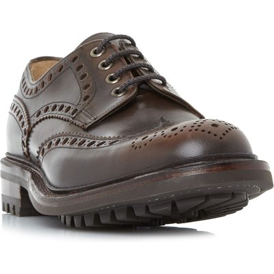 Cheaney Mens Avon C Commando Sole Brogue Shoes, Brown