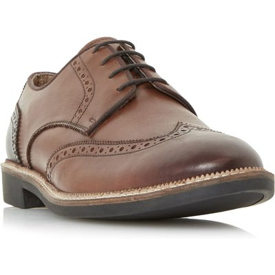 Howick Billows Smart Lace Up Brogue Shoes, Tan