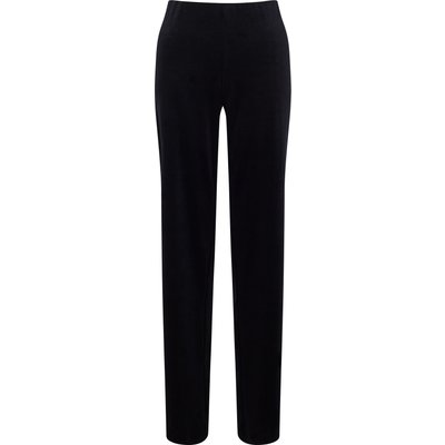 James Lakeland Velvet Wide Leg Trousers, Black