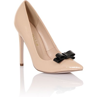 Paper Dolls Tape bow court shoes, Nude