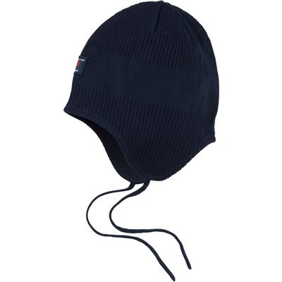 Polarn O. Pyret Babies Ribbed Hat, Blue