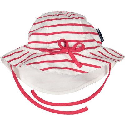 Polarn O. Pyret Baby Striped Sun Hat, Red