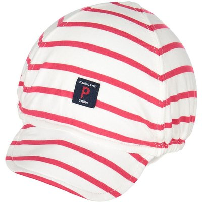 Polarn O. Pyret Baby Striped Cap, Red