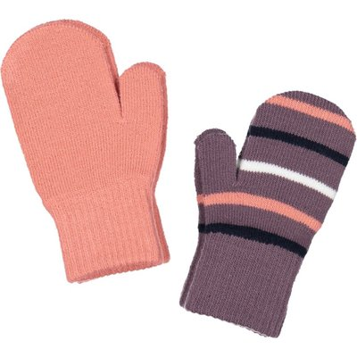 Polarn O. Pyret Baby Two Pack Magic Mittens, Purple