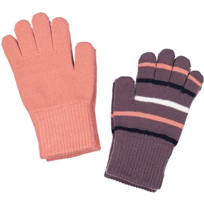 Polarn O. Pyret Baby Two Pack Magic Gloves, Purple