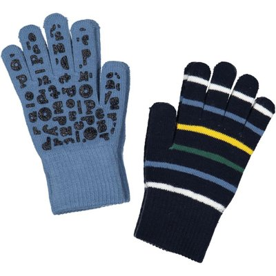 Polarn O. Pyret Kids Two Pack Magic Gloves, Blue